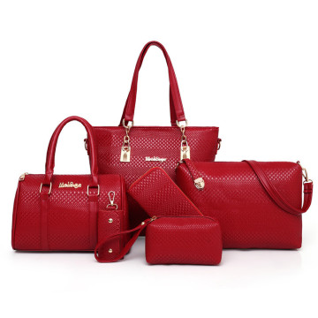 Desainer Grosir Asli PU Tote Fashion Ladies Handbags