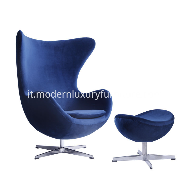 Comfortablr Living Room Velvet Egg Chair 1