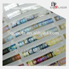 Holographische Kratzer-Etikettenaufkleber für PVC-Karte