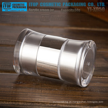 YJ-XD50 50g cor personalizável inovador dupla câmara 50g final duplo acrílico jar