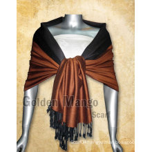 Double Face solid color pashmina Shawl