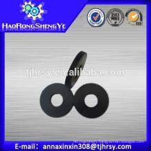 Custom gears with material Black POM, plastic, steel