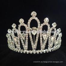 Venta al por mayor accesorios del pelo belleza cristal princesa corona diadema