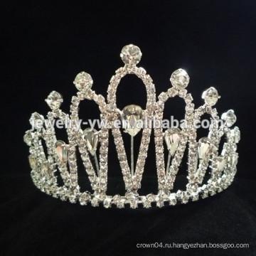 Оптовые аксессуары для волос кристалл принцесса корону оголовье