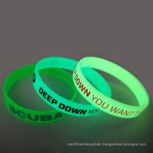 Custom Luminous Silicone Bracelet, Glow In Dark Silicone Bracelet