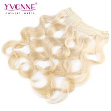 Farbe # 613 Blondes brasilianisches Haar Flip in Haarverlängerungen