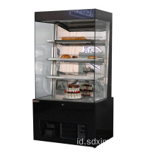 Kulkas display freezer sayur kue komersial