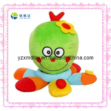 Cute Green Octopus Baby Rattle Plush Toy