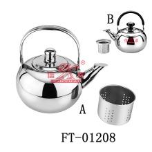 Edelstahl rund Pfeifen Teekanne (FT-01208)