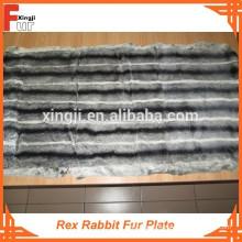 Plaque en fourrure de lapin Rex de qualité supérieure