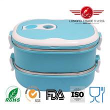 Boîte à lunch thermique ovale en acier inoxydable avec serrure