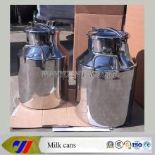 Cubo de leche de acero inoxidable de 25 litros