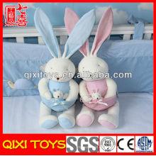 Juguetes lindos del bebé de la felpa del conejo del regalo de la alta calidad con el pequeño conejo del bebé