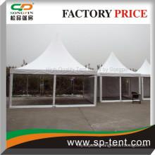 3X3m,4x4m,5x5m Small aluminum pergola gazebo Transparent Walls and white Roof