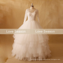 MRY071 V front and back layer skirtchina wholesale wedding dress long sleeve saudi arabia wedding dresses no train wedding dress