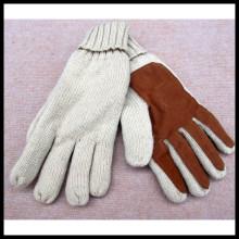 Inverno Novo Double Layer Knitting Couro Quente 3m Thinsulate Luvas de condução