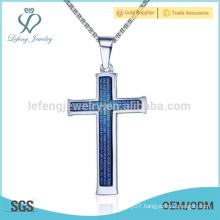 Hot sale stainless steel celtic mens cross necklace pendant