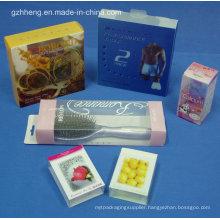 Customized Unbreakable Cosmetic PVC Plastic Box (folding box)