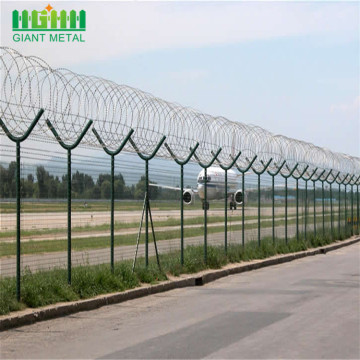 Galvanized+Barbed+Security+Perimeter+Airport+Wire+Mesh+Fence