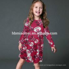 Mãe e Filha Outono Inverno Roupas Coloridas Dos Desenhos Animados Imprimir Natal Combinando Família Vestido