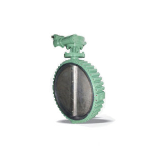 Worm lug rubber lined butterfly valve