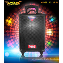8inch Bluetooth Wireless Microphone Active Portable Socket Trolley Battery Speaker F51
