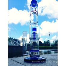 2016 Venta al por mayor Honeycomb Birdcage de vidrio de fumar pipa de agua