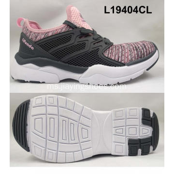 Lady running pvc patch shoes