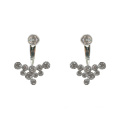 Fashion 925 Sterling Silver Jacket Stud Pendientes