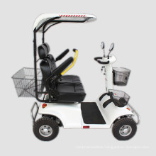 Two Seats Outdoor Touring Electric Mobility Scooter with Awning