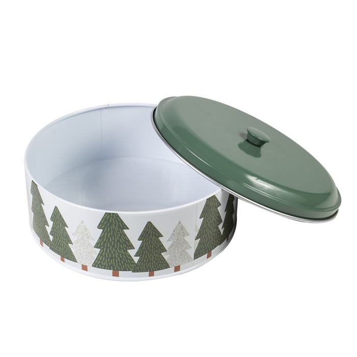 Christmas Cake Tin Storage Container