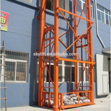 Electric hydraulic guide rail used the goods lift elevator