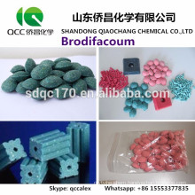 High-efficiency Rat killer Brodifacoum 98%TC 0.005%Wax Block 0.5%TKCAS 56073-10-0