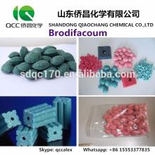 Высокоэффективный крысиный убийца Brodifacoum 98% TC 0.005% Восковый блок 0.5% TKCAS 56073-10-0