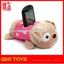 Support mignon de téléphone portable de conception de chien de bonne qualité