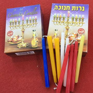 Bougies décoratives de Chanukah multicolores en vrac