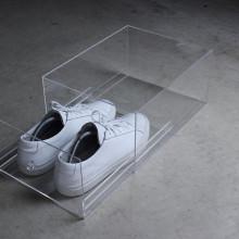 Yageli Factory Made Clear Perspex Boîte de rangement en chaussure acrylique