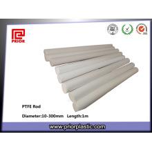 Tige en plastique de téflon de PTFE blanc de frittage d'ingénierie
