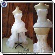 JJ2988 sweetheart Sexy high-low short front long back wedding dress organza fabric