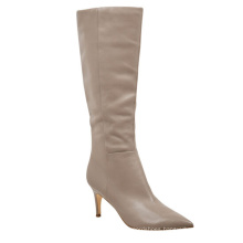 Knee High Boots Fashion Winter Women High Heel Long Waterproof Rain Boots Ladies Genuine Leather Boots