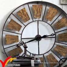 Bela Retro Vintage industrial rústica rodada Deocritive metal Wall Decor Clock