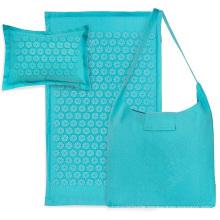 linen cotton combo acupressure mat pillow