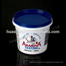 Contenedor de comida desechable de plástico 350ml Congelador Seguro