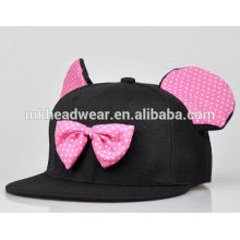 cute hip hop caps with bowtie and ears