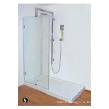 O vidro temperado ajusta a dobradiça do pivô da porta do chuveiro