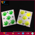 China factory custom high quality fluorescent yellow 0.4mm thickness self-adesive 3m reflective PVC stickers