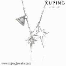 Necklace-00102 Collar de joyería de circonio cúbico Special Fashion Charm en color de rodio