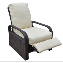Aluminum frame with rattan weaving recliner chair