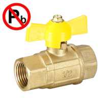 lead free brass full port ball gas ball valve factory