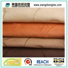 Tela de gamuza de bordado para el sofá de la cortina del amortiguador